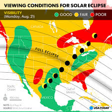 Oregon Tsunami Map by Solar Eclipse Weather Forecast Coastal Clouds Could Mar View In