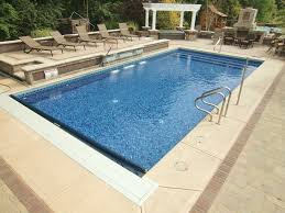 Mountain Lake Pool Design by Vinyl Liner Pool Features
