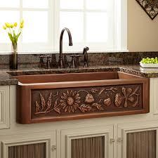 country style kitchen sink 36 floral design copper farmhouse sink kitchen