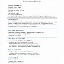 curriculum vitae format for students pdf to excel resume and cv sles sledergraduate resumes converza co