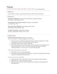 Objective For Mba Resume Sample Financial Resume Templates Format For Finance Mba Downl