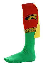 halloween knee socks robin knee high cape socks robin costume accessory