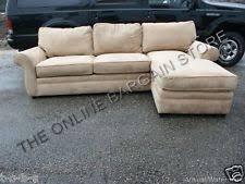 suede sectional sofas pottery barn suede sectional sofas loveseats u0026 chaises ebay