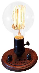 Edison Table Lamp Edison Globe Desk Lamp And Bulb Industrial Table Lamps By