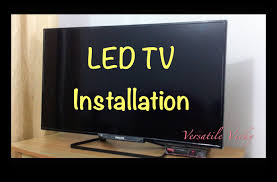 Led Tv Corner Table How To Install Fix Attach Led Tv Table Top Stand Diy How To