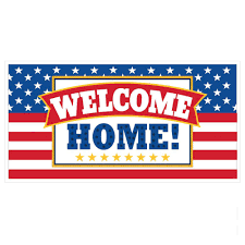 33 5 in x 65 in giant welcome home party banner 5 pack 120266