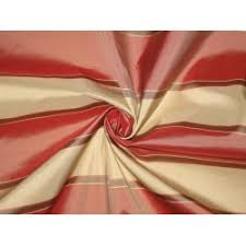 Striped Silk Fabric For Curtains Silk Taffeta