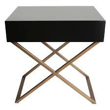 Modern Black Nightstand Brown Metal Modern Bedroom Woptional Night Stands Images With