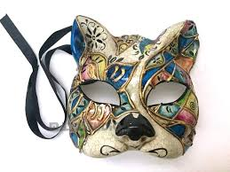 venetian masquerade mask venetian masquerade animal cat mask blue