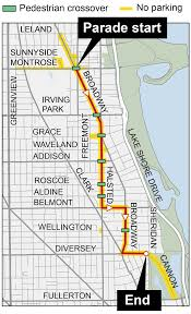 Chicago Walking Map by Boystown Pride Parade 2016 Chicago Tribune