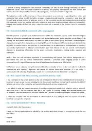 cover letter addressing selection criteria template sample
