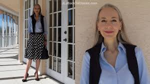 preppy for women over 50 classic fashion over 40 over 50 how to style a midi skirt cardigan