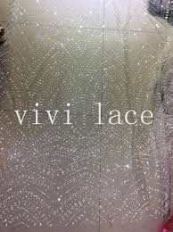 glitter tulle hls004 stock transparent glued glitter tulle mesh lace fabric