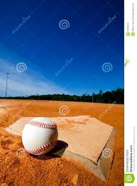 Home Plate Baseball Baseball On Home Plate Stock Images Image 9440204