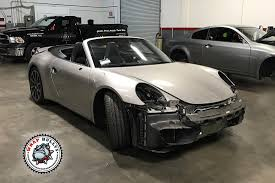 porsche dark green porsche 911 wrapped in 3m satin dark gray car wrap wrap bullys
