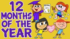 months of the year 12 months of the year song with lyrics the