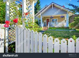 Grey House by Charming Old Cute Grey House Behind Stock Photo 96711994