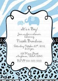 blue safari baby shower invitations theruntime com