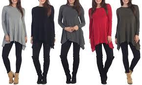 womens tunic sweaters s tunic sweater groupon goods
