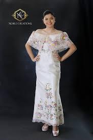filipiniana dress hand painted and embroidered maria clara terno