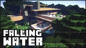 fallingwater house minecraft falling water house 2 frank lloyd wright youtube