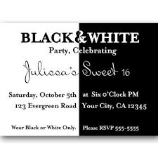 awesome free black and white birthday invitations design