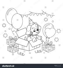 coloring page outline cute puppy cartoon stock vector 551435494
