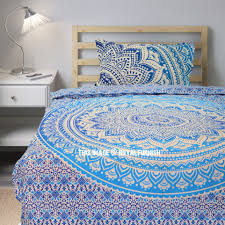 blue twin bedding twin blue u0026 white flower ombre boho chic mandala bedding duvet set