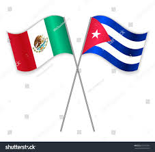 Cuban Flag Images Mexican Cuban Crossed Flags Mexico Combined Stock Vector 528197056