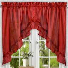 Lined Swag Curtains Red Swag Valances U0026 Kitchen Curtains You U0027ll Love Wayfair