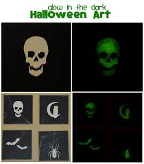 g rated glow in the dark halloween art with mod podge