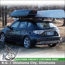 Car Top Carrier Cross Bars 2009 Subaru Impreza Outback Sport Cargo Box And Canoe Rack Mounted