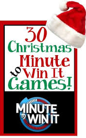 christmas holiday theme minute to win it games christmas