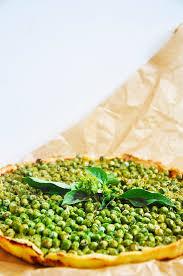 gluten free green pea tart with mint gourmandelle