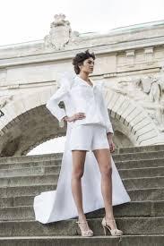 women shorts suit wedding dress in silk taffeta