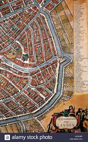 Medieval Maps Medieval Map Of The Historic Old Dutch Town Of Leiden Leyden Dated