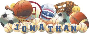 sports murals for bedrooms sports balls personalized peel and stick mural