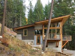 hillside cabin house plans homes zone