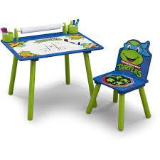 Kids Adjustable Desk by Delta Children Nickelodeon Ninja Turtles Art Desk Walmart Com