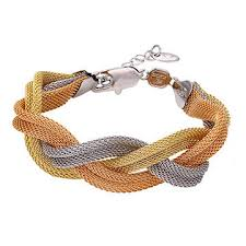 multi colored gold bracelet images China fashionable xuping jewelry multi color gold plated weave jpg