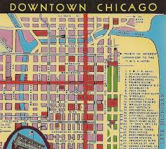 chicago tourist map chicago in vintage postcards history and architecture of