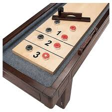 barrington 9 solid wood shuffleboard table hathaway austin 9 feet shuffleboard table with 10 pin bowling set