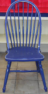 windsor chair shabby chic midnight blue antique painted furniture