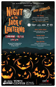 free for all ages night of the jack o u0027lanterns at alpine creek
