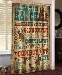 Western Bathroom Shower Curtains Welcome To The Ranch Shower Curtain Ranch Westerns And Western