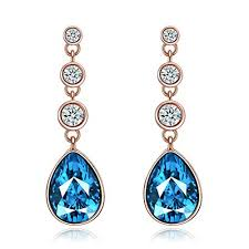 bluestone earrings drop earrings with blue
