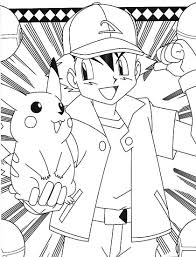 pokemon ash pikachu coloring pages embroidery pinterest