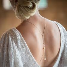 wedding backdrop necklace chez bec stockist shop chez bec pearl wedding jewellery