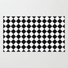 Checkered Area Rug Impressive Black And White Checkered Area Rug Cievi Home Within