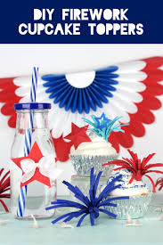 diy firework cupcake toppers by amy robison on love the day